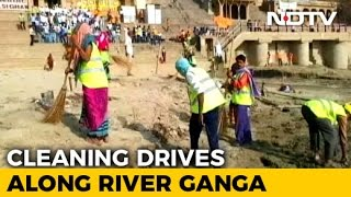 Clean-up Drives Mark Ganga Swacchta Sankalp Divas Celebrations