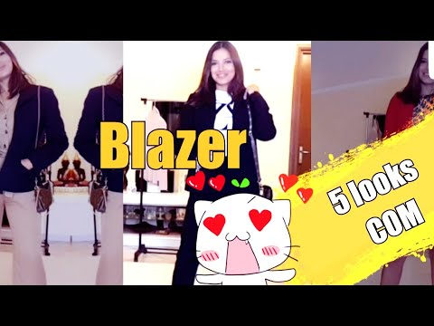 5 LOOKS  COM BLAZER....
