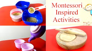 Montessori Inspired Educational Toddler Activities For Toddlers, Preschoolers And Kids