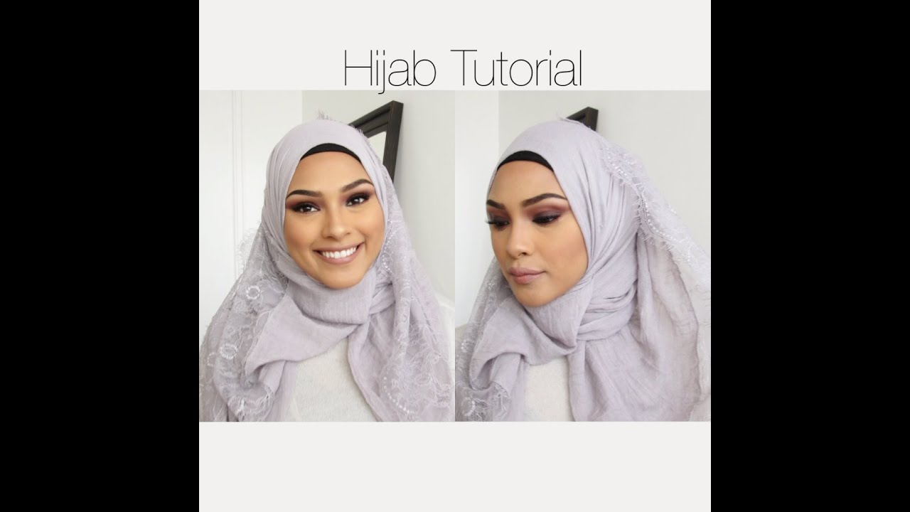 Lace Htotorial Hijab This Is A Beautiful Black Hijab Lined With
