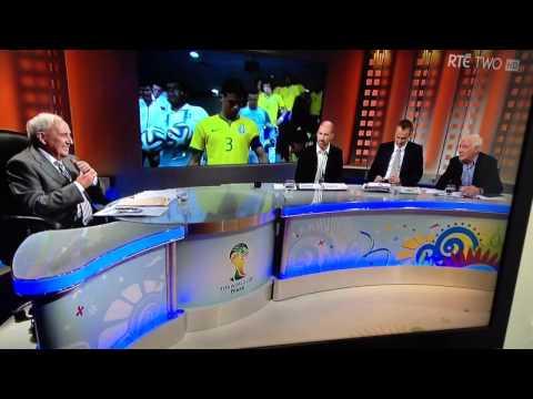 Eamonn Dunphy curses on air World Cup 2014