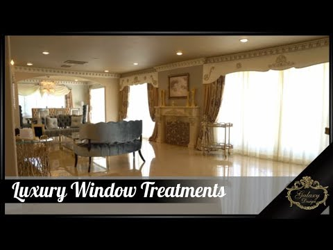 Luxury Window Treatments For Spacious Airy Rooms | Galaxy Design Video #170