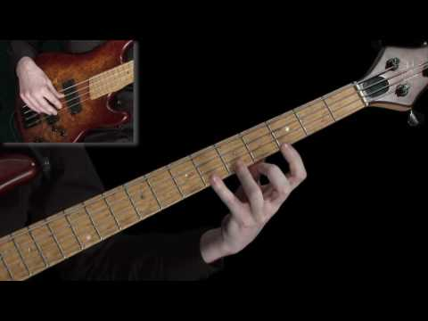 Learn Bass Lessons - 4 fret technical exercise