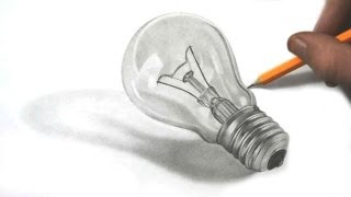Drawing a Realistic Lightbulb in Graphite Pencil