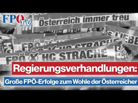 Regierungsverhandlungen: Große FPÖ-Erfolge zum Wohle der Österreicher
