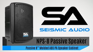 Seismic Audio NPS-8 Passive ABS Speaker Cabinet (Official)