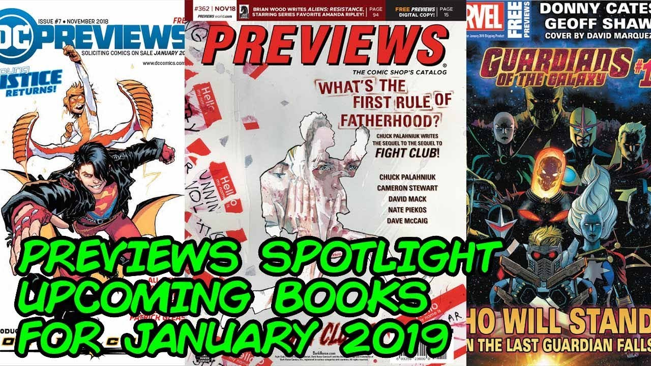 Previews Spotlight - Upcoming Comic Books for January 2019!!
