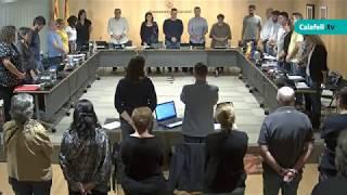 Ajuntament de Calafell: sessió plenària ordinària, 17 d'octubre de 2019