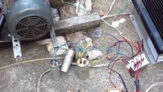induction motor as generator running waste oil