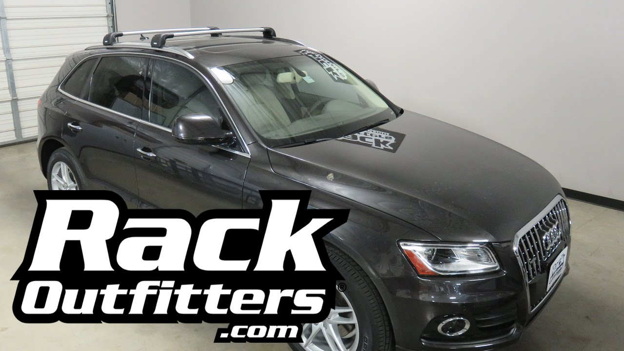 2009 To 2016 Audi Q5 With Thule Aeroblade Edge Roof Rack
