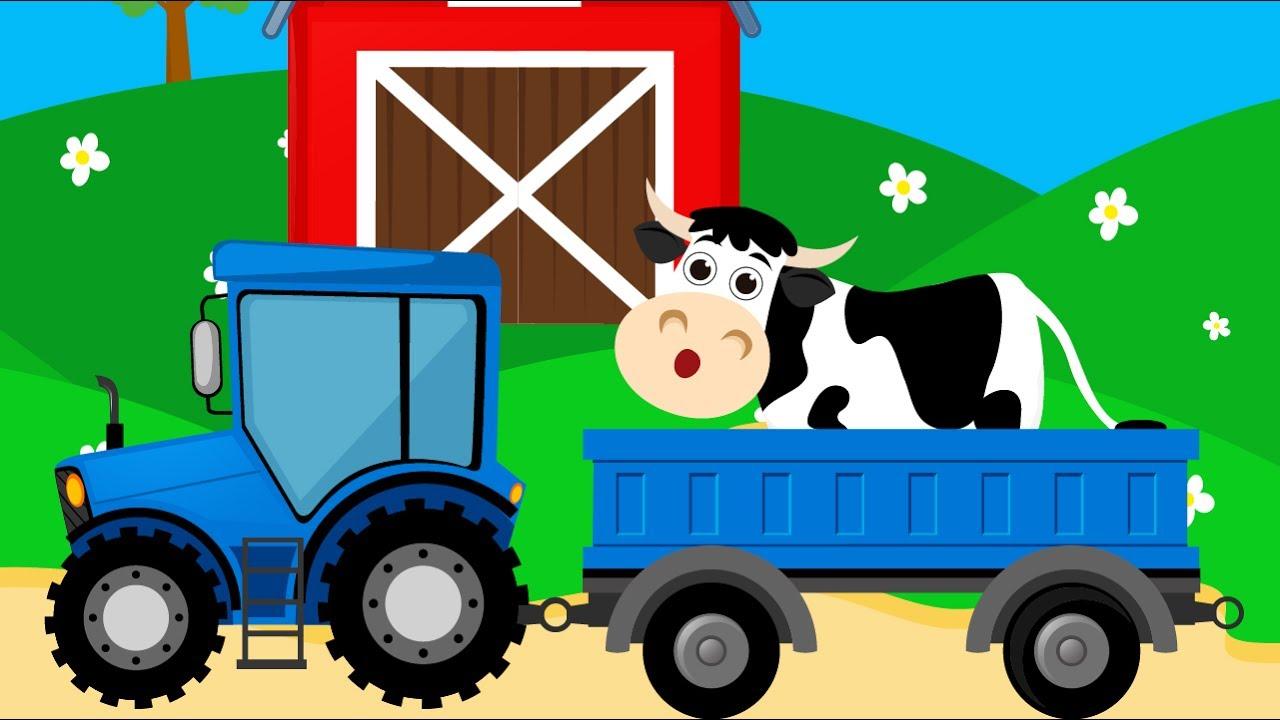 Мультик про Корову для Детей. Развивающий Мультфильм о Домашних Животных для Малышей. Видео для дете