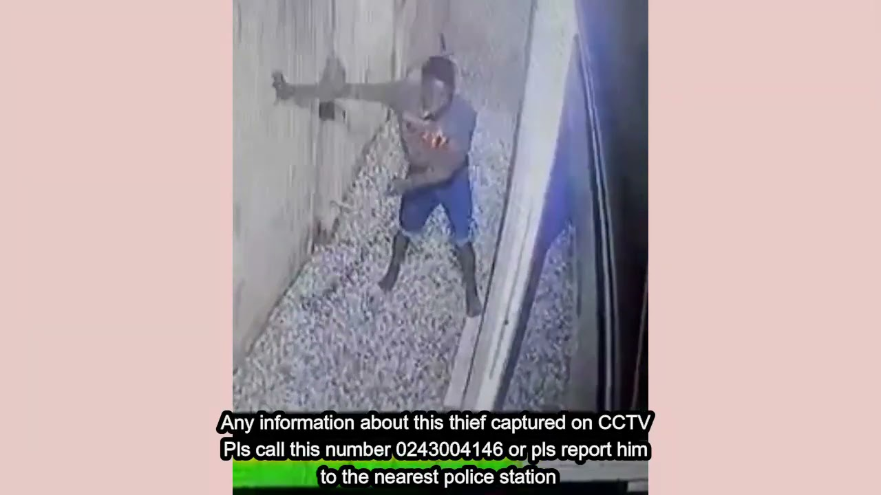 Any information about this guy captured on CCTV Pls call this number 0243004146