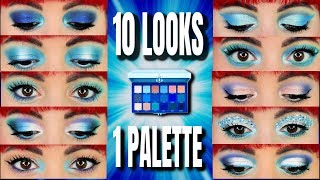 Jeffree Star Blue blood | 10 Looks 1 palette  | Tutorial style 😎