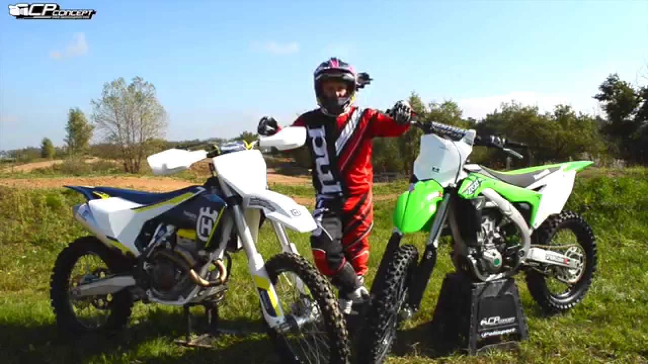 motocross cyril porte test 450 kxf 2016 vs 350 husqy 2016