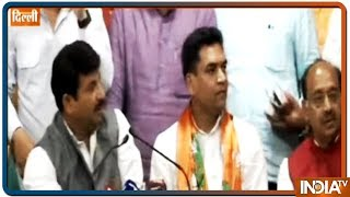 Former AAP minister Kapil Mishra joins BJP along with AAP women's wing chief Richa Pandey