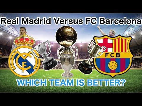 Real Madrid VS FC Barcelona IN STATS!!!