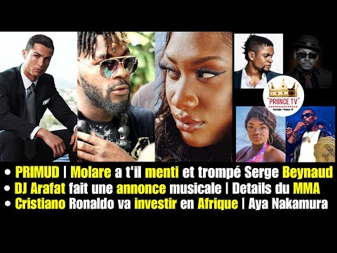 DJ Arafat annonce du sale, Cristiano investi en Afrique, Aya Nakamura honoré par Forbes   PRIINCE TV