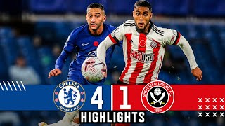 Chelsea 4-1 Sheffield United | Premier League highlights | Werner, Ziyech & Thiago Silva down Blades