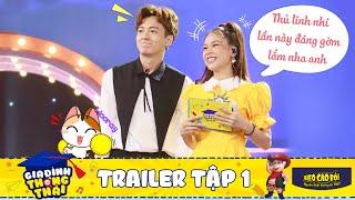 """Gia đình thông thái   Trailer Tập 1: Huy Sam """"bấn loạn"""" vì hậu duệ danh thủ Hồng Sơn & MC Hồng Phúc"""