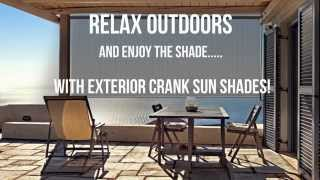 Outdoor Decorating With Radiance Crank Sun Shades