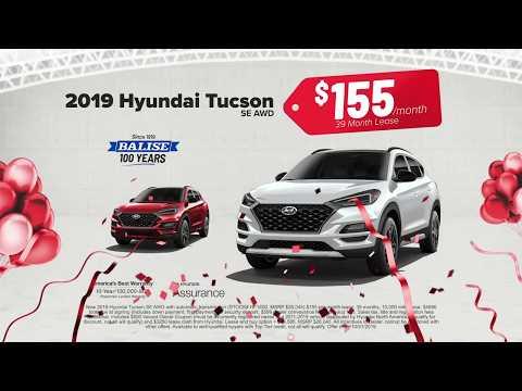 Lease A New 2019 Hyundai Tucson For $155/mo.
