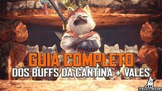Monster Hunter World - GUIA COMPLETO SOBRE OS BUFFS DA CANTINA MAXIMIZADOS!