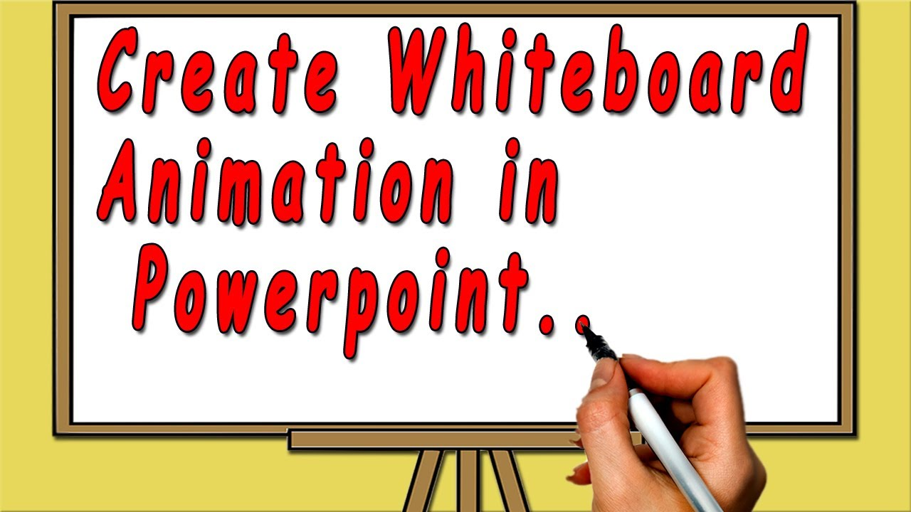 how to create whiteboard animation in powerpoint youtube