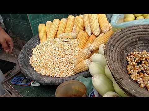 Makai - Butta at Street Food of Karachi Pakistan