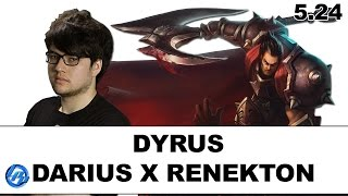 Dyrus - Darius vs Renekton - NA SoloQ