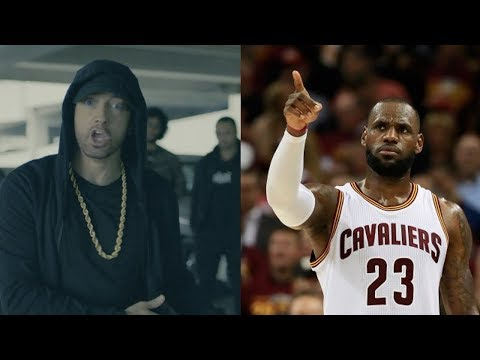 Thumbnail: LeBron James RESPONDS to Eminem's Donald Trump BET Freestyle