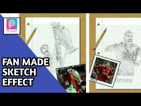 Picsart Tutorial l Fan Made Sketch Effect I Picsart Editing 2019 I Alisson Becker thumbnail