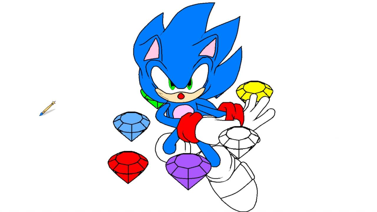 Sonic The Hedgehog Coloring Pages Coloring Videos For Kids Youtube