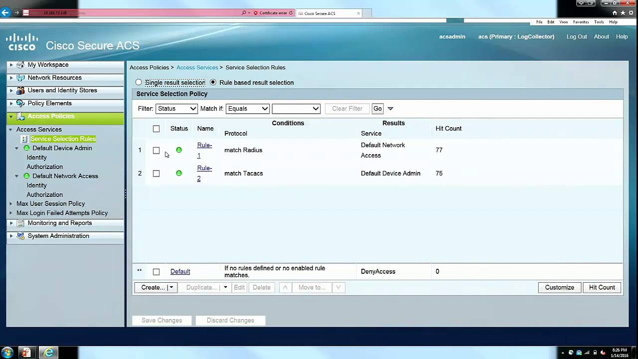 TACACS+ & RADIUS Configuration on ACS for Cisco ASA