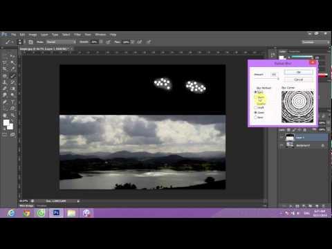 Cách tạo tia sáng bằng photoshop
