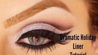 Dramatic perfect liner makeup with glitter holiday look Makeup By Ani Thumbnail