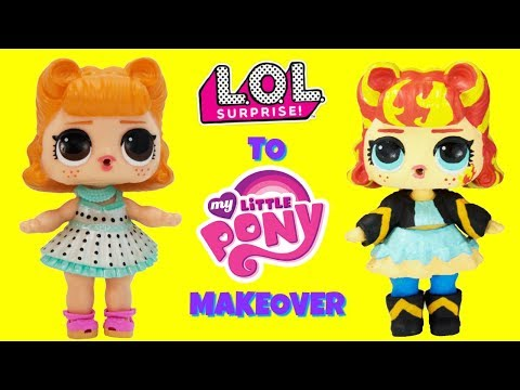 DIY Custom Jitterbug To Sunset Shimmer LOL Surprise Doll My Little Pony MAKEOVER