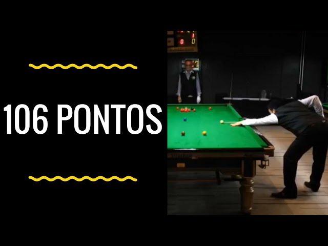 Noel faz 106 pontos no Campeonato Brasileiro de sinuca 2017