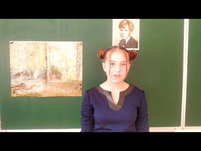 Изображение предпросмотра прочтения – ДаринаБондаренко читает произведение «Топи да болота...» С.А.Есенина