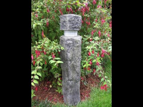 DIY Hand Sculpted Concrete Stone Landscape Light For The Garden