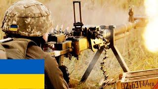 крупнокалиберный пулемет ДШК на полигоне в Украине / DShK Heavy machine gun