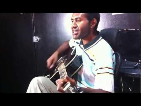 Live performance Ezra in studio, Port Moresby Dave's Travel Corner