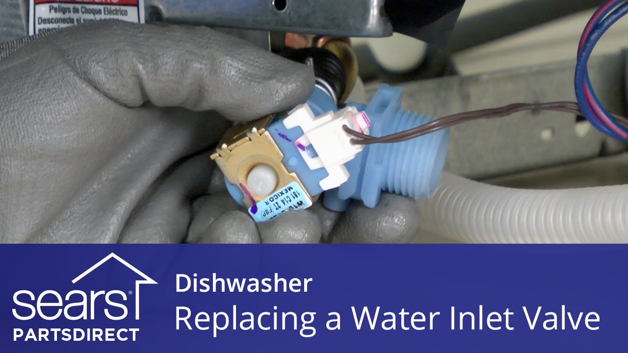 hight resolution of replacing the water inlet valve on a dishwasher
