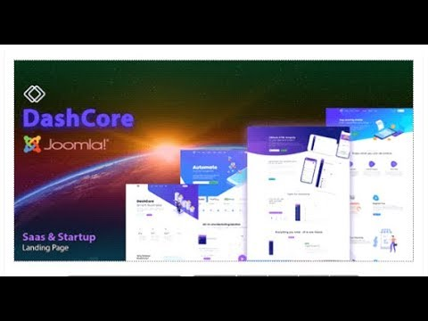 DashCore - SaaS Startup & Software Joomla Template | Themeforest Templates thumbnail