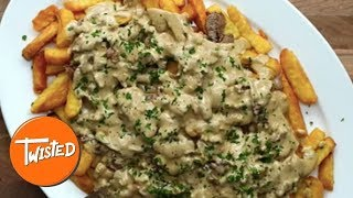 Creamy Peppercorn Steak Fries Recipe | Loaded Fries | Twisted