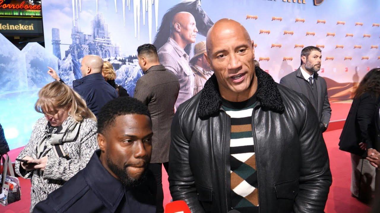 Dwayne Johnson Und Kevin Hart Kabbeln Sich Bei Jumanji Premiere Afp