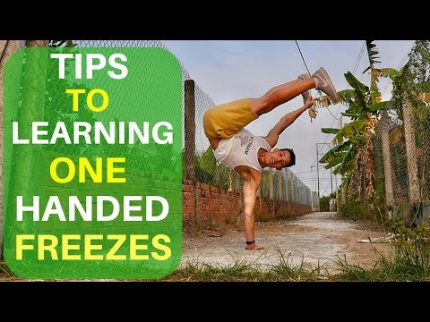 One Handed Freeze Bboy Tutorial | How to One Hand Air Freeze | Pike Freeze