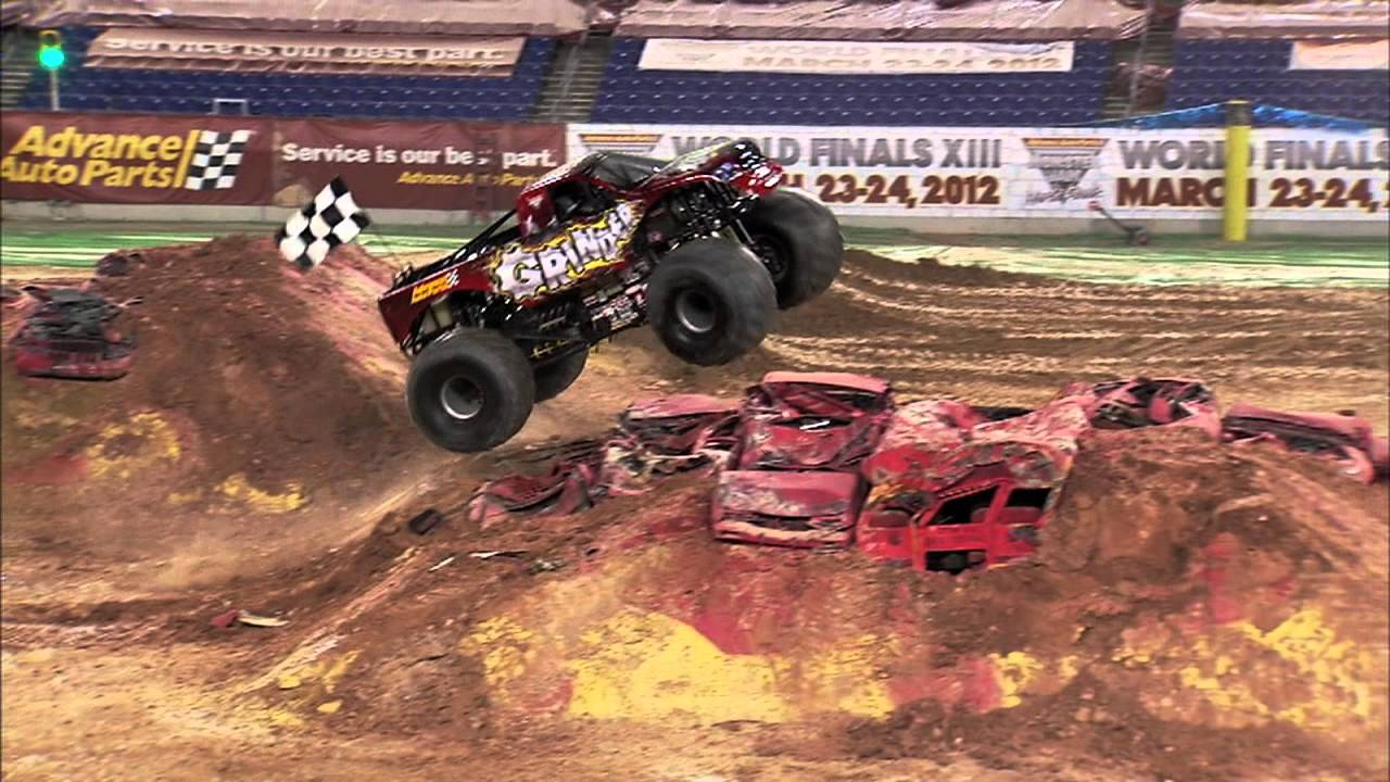 Monster Jam - Advance Auto Parts Grinder Monster Truck Full Freestyle Run  from Baltimore - 2011