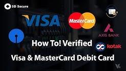 How To Verify VISA & MasterCard Debit Card (SBI ,AxisBank ,Kotak) 2018