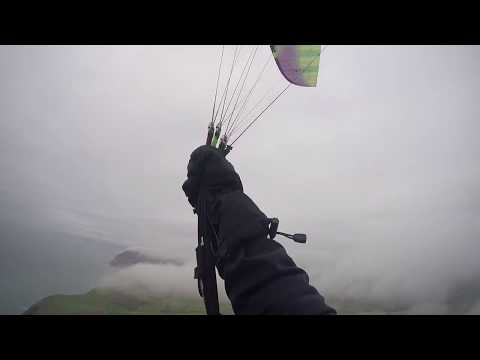 Paragliding flying clouds :D