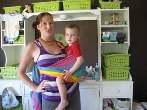 Paxbaby Ring Sling Instructions With A Toddler Youtube